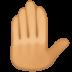 🤚🏽 raised back of hand: medium skin tone Emoji on Facebook Platform