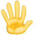 🖐️ hand with fingers splayed Emoji on Facebook Platform