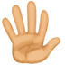 🖐🏽 hand with fingers splayed: medium skin tone Emoji on Facebook Platform