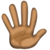 🖐🏿 hand with fingers splayed: dark skin tone Emoji on Facebook Platform