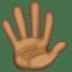 🖐🏿 Dark Skin Tone Hand With Fingers Splayed Emoji on Facebook Platform