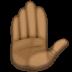 ✋🏿 raised hand: dark skin tone Emoji on Facebook Platform