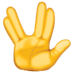 🖖 vulcan salute Emoji on Facebook Platform