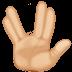 🖖🏼 vulcan salute: medium-light skin tone Emoji on Facebook Platform