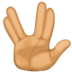 🖖🏽 vulcan salute: medium skin tone Emoji on Facebook Platform