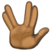 🖖🏿 vulcan salute: dark skin tone Emoji on Facebook Platform