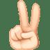 ✌🏻 Light Skin Tone Victory Hand Emoji on Facebook Platform