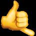 🤙 call me hand Emoji on Facebook Platform