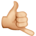 🤙🏼 call me hand: medium-light skin tone Emoji on Facebook Platform