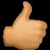 👍🏽 Medium Skin Tone Thumbs Up Emoji on Facebook Platform