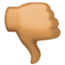 👎🏽 thumbs down: medium skin tone Emoji on Facebook Platform