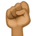 ✊🏾 raised fist: medium-dark skin tone Emoji on Facebook Platform