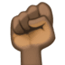 ✊🏿 raised fist: dark skin tone Emoji on Facebook Platform