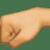 🤛🏽 left-facing fist: medium skin tone Emoji on Facebook Platform