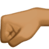 🤛🏾 left-facing fist: medium-dark skin tone Emoji on Facebook Platform
