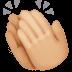 👏🏼 clapping hands: medium-light skin tone Emoji on Facebook Platform