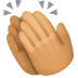 👏🏽 clapping hands: medium skin tone Emoji on Facebook Platform