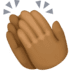 👏🏾 clapping hands: medium-dark skin tone Emoji on Facebook Platform