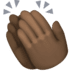 👏🏿 clapping hands: dark skin tone Emoji on Facebook Platform