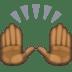 🙌🏿 raising hands: dark skin tone Emoji on Facebook Platform