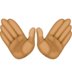 👐🏾 open hands: medium-dark skin tone Emoji on Facebook Platform