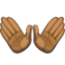 👐🏿 open hands: dark skin tone Emoji on Facebook Platform
