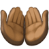 🤲🏿 palms up together: dark skin tone Emoji on Facebook Platform