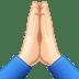 🙏🏻 folded hands: light skin tone Emoji on Facebook Platform