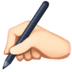 ✍🏻 writing hand: light skin tone Emoji on Facebook Platform