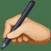 ✍🏼 writing hand: medium-light skin tone Emoji on Facebook Platform