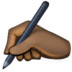 ✍🏿 writing hand: dark skin tone Emoji on Facebook Platform
