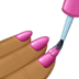 💅🏾 Medium-Dark Skin Tone Nail Polish Emoji on Facebook Platform