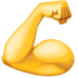 💪 Flexed Biceps Emoji on Facebook Platform
