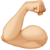 💪🏼 flexed biceps: medium-light skin tone Emoji on Facebook Platform