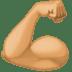 💪🏽 flexed biceps: medium skin tone Emoji on Facebook Platform