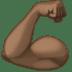 💪🏿 flexed biceps: dark skin tone Emoji on Facebook Platform