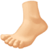 🦶🏼 foot: medium-light skin tone Emoji on Facebook Platform
