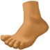 🦶🏾 foot: medium-dark skin tone Emoji on Facebook Platform