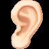 👂🏻 ear: light skin tone Emoji on Facebook Platform