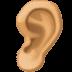 👂🏽 ear: medium skin tone Emoji on Facebook Platform