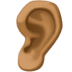 👂🏾 ear: medium-dark skin tone Emoji on Facebook Platform