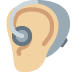 🦻🏼 ear with hearing aid: medium-light skin tone Emoji on Facebook Platform