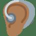🦻🏾 ear with hearing aid: medium-dark skin tone Emoji on Facebook Platform