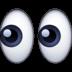 👀 Yeux Emoji sur la plateforme Facebook