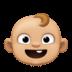 👶🏼 baby: medium-light skin tone Emoji on Facebook Platform