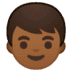 👦🏾 boy: medium-dark skin tone Emoji on Google Platform