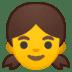 👧 girl Emoji on Google Platform