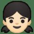 👧🏻 girl: light skin tone Emoji on Google Platform