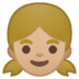 👧🏼 girl: medium-light skin tone Emoji on Google Platform