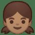 👧🏽 girl: medium skin tone Emoji on Google Platform